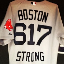 Red Sox - 617 Boston Strong jersey