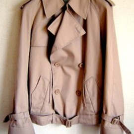Maison Martin Margiela - ARTISANAL SHORT TRENCH CORT  MADE OF BARBERRY CORT