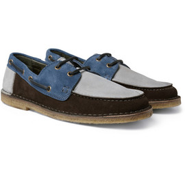 AMI - Panelled Suede Boat Shoes