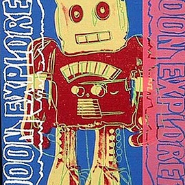 Andy Warhol - moon explorer robot by andy warhol