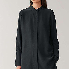 COS - mulberry silk shirt in blue