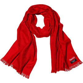 Supreme - Fuck Wool Scarf - Red / White / Black