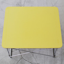 Herman Miller, Eames - Eames Wire-Base Table LTR Yellow
