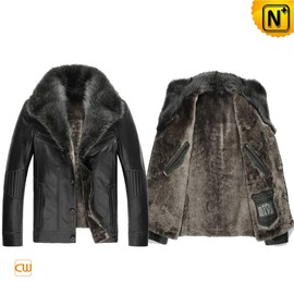 Cwmalls - Real Fur Leather Jacket for Men CW851218