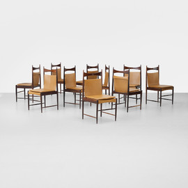 Sergio Rodrigues - High-Backed Cantu dining chairs