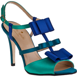 kate spade NEW YORK - Evening Sandal Beryl Green Satin - Jildor Shoes, Since 1949