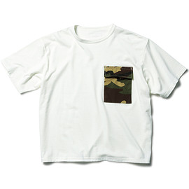 SOPHNET. - S/S CAMOUFLAGE POCKET WIDE CUT & SEWN