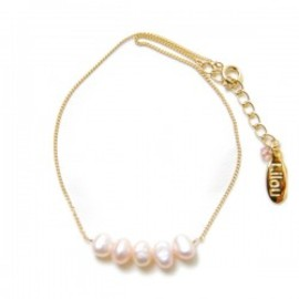 Lilou - PEARL ANKLET pink