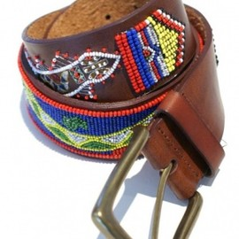 POLO RALPH LAUREN - BEADS/LEATHER BELT