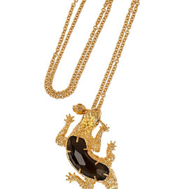 Alexander McQueen - Gold-plated Swarovski crystal necklace