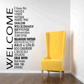 Luulla - Welcome Decals in International Languages
