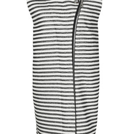 Bouchra Jarrar - Striped Natte Sleeveless Coat