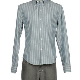 BAND OF OUTSIDERS - BLUE STRIPE OXFORD B.D.SHIRT