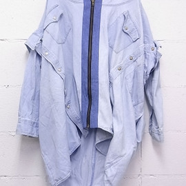 ANDREA CREWS - ANDREA CREWS // UPCYCLED DENIM HOODIE JACKET