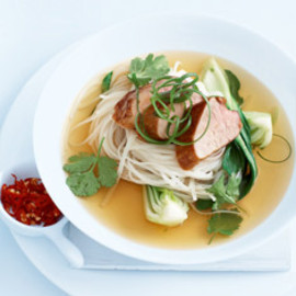 Donna Hay - caramelised pork with five-spice broth