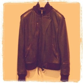 "Maison Martin Margiela - REPLICA ""mexico"" leather  bomber  jacket"