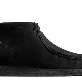 Clarks - Wallabee Boot - Black (Water & Stain Resistant Suede)