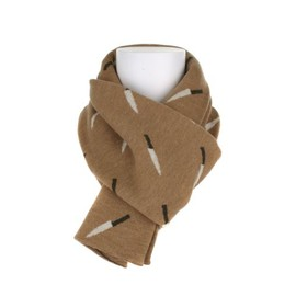 JULIEN DAVID - Wool double jacquard scarf, knife pattern