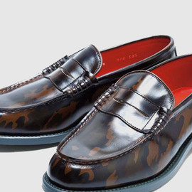 Regal Shoe & Co. - Camouflage Penny Loafers