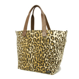 HEAD PORTER - Animal Canvas Leopard Tote Bag