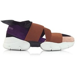 Emilio Pucci - Shoes Black Purple and Brown Polyester & Leather Sneaker