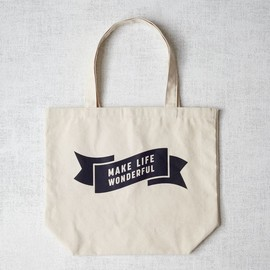 west elm - Market Tote Bag - Make Life Wonderful