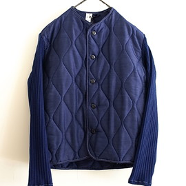 LILY1ST VINTAGE - 1980-1990'S FRENCH QUILTING & KNIT LINER BLOUSON