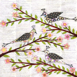 Luulla - Art Print - Whimsical Birds