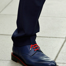 Dior Homme - The blue wingtips with red laces, spring, 2013