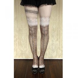 abilletage - corset tights busk-brown-
