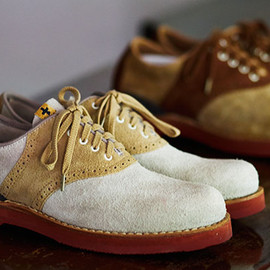 visvim - visvim Patrician suede folk saddle shoes