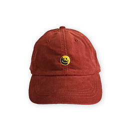 NADA. - Smile embroidery Corduroy cap / Red