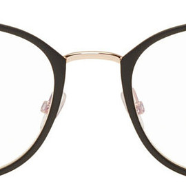 Tom Ford - Black Blue Block Metal Round Glasses 201076M133001