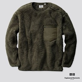 Engineered Garments, UNIQLO - Fleece Pullover - Olive