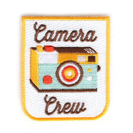 Zipper Teeth - Camera Crew Iron On Patch