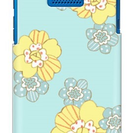 SECOND SKIN - uistore 「patchwork flower (mint blue)」 / for DIGNO DUAL 2 WX10K/WILLCOM