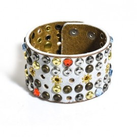 Isabel Marant - Studded leather cuff  White