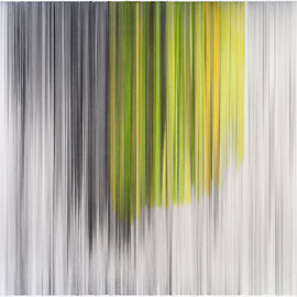 Anne Lindberg - parallel 26 yellow, 2011,  graphite and colored pencil on cotton mat board