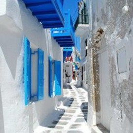 LOVE♥Greece Narrow Street, Mykonos Island, - Narrow Street, Mykonos Island, Greece