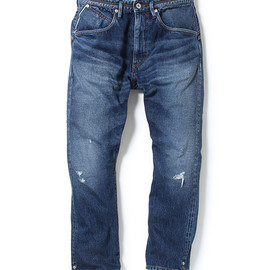 "nonnative - DWELLER ANKLE CUT 5P JEANS - COTTON 12.5OZ SELVEDGE DENIM VW ""BEE"""