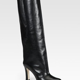 MANOLO BLAHNIK - wide leather knee-high boots