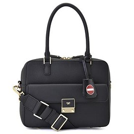 ANYA HINDMARCH - Carker Small No Entry in Black Matt Tumbled with Circus - Black