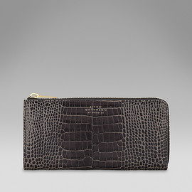 Smythson - Large slim purse(black)