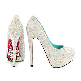 "Taylor Says - ""TIL DEATH""Pumps/silver"