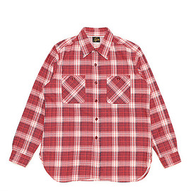 NEEDLES - Work Shirt-Indian Flannel-Red×Black