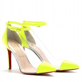 Christian Louboutin -  UN BOUT 100 PATENT DETAILED TRANSPARENT PUMPS