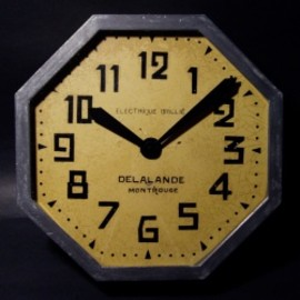 "フランス【Brillié】社製 - 1920-30's French Art Déco ""Stenciled Dial"" Wall Clock"
