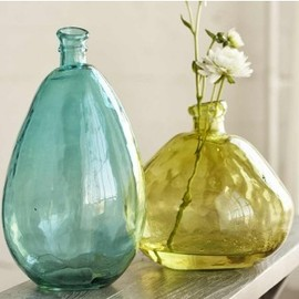 VivaTerra - Aqua and Citrine Balloon Vases
