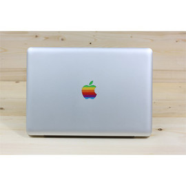 skin AT - Retro Rainbow Apple Logo Decal for MacBook