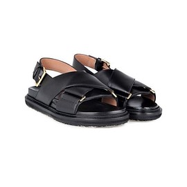MARNI - Leather Fussbet Sandals
